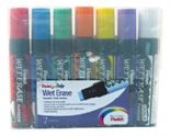 7 Pack Pentel Jumbo Tip 10mm-15mm Wet Erase Liquid Chalk Markers